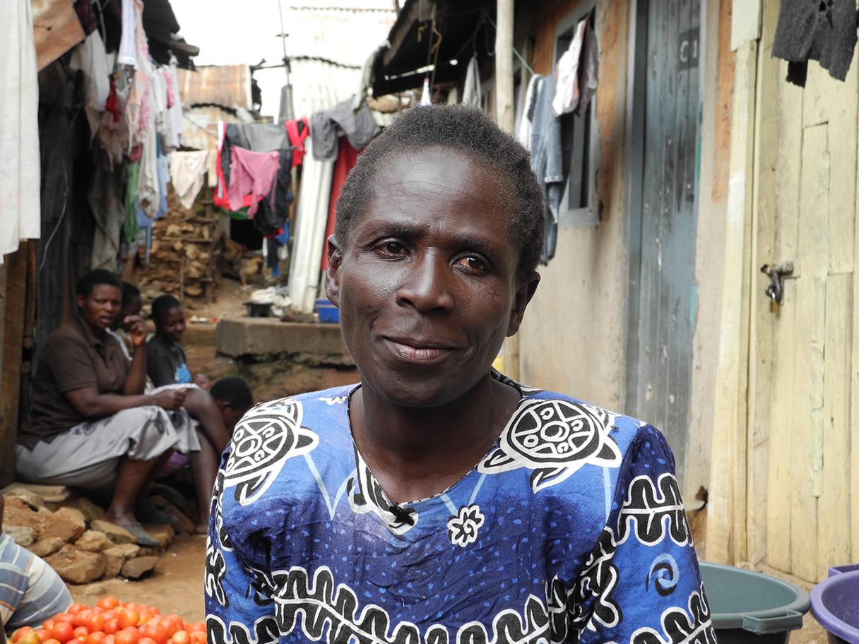 Elisabeth Adhiambo im Slum Mathare, Nairobi